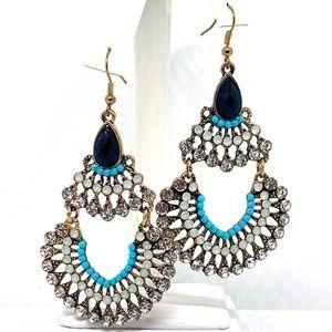 Chandelier Crystal and Rhinestone Earrings